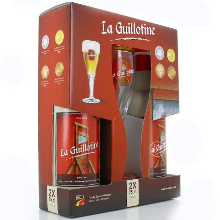 PACK LA GUILLOTINE 2 X 75 CL + 1 COPA
