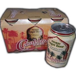 CASABLANCA LARGER BEER LATA - 33CL